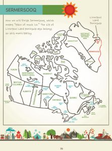 Draw Canada and Greenland, Page 70, by Kristin J. Draeger