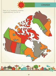 Draw Canada and Greenland, Page 81, by Kristin J. Draeger
