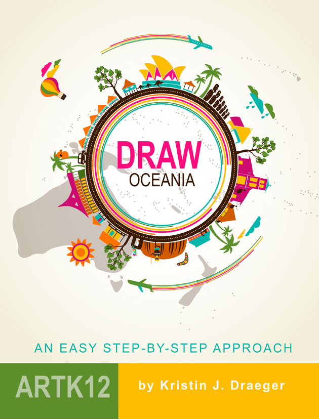 Draw Oceania by Kristin J. Draeger. Book cover.