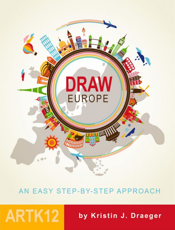 Draw Europe by Kristin J. Draeger. Book cover.