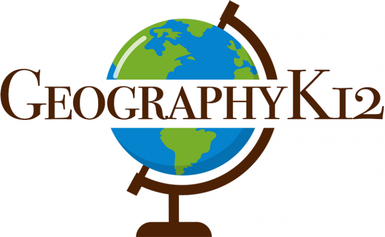 GeographyK12 with full world globe on stand