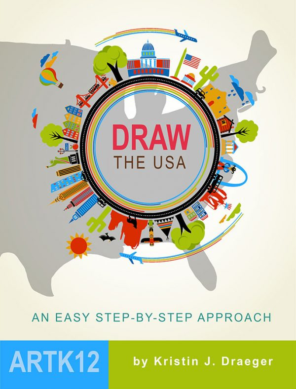 Draw the USA by Kristin J. Draeger. Book cover.