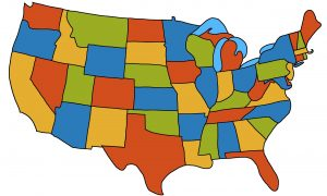 Map of the USA (48 states)