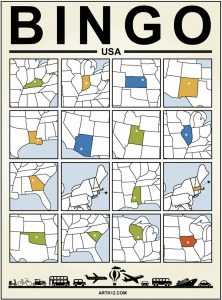 USA Bingo Card Example 2