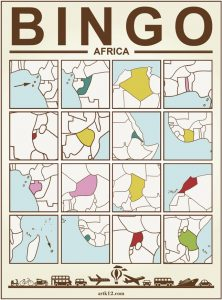 Africa Bingo Card Version 1